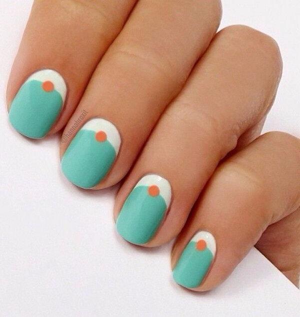 2 half moon nail art - 60+ Stunning Half Moon Nail Art Designs & Tutorials