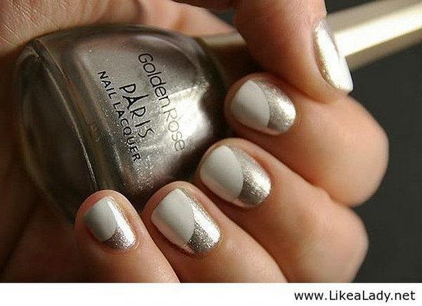22 half moon nail art - 60+ Stunning Half Moon Nail Art Designs & Tutorials