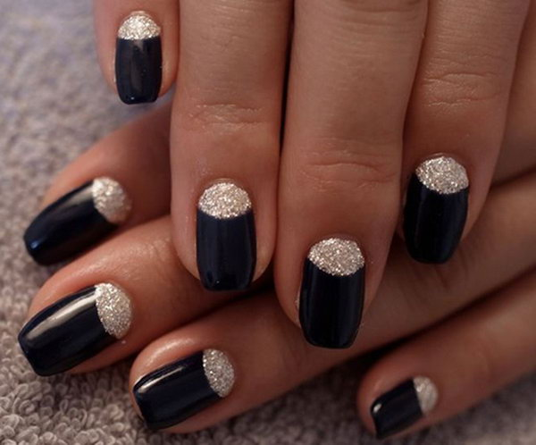 27 half moon nail art - 60+ Stunning Half Moon Nail Art Designs & Tutorials