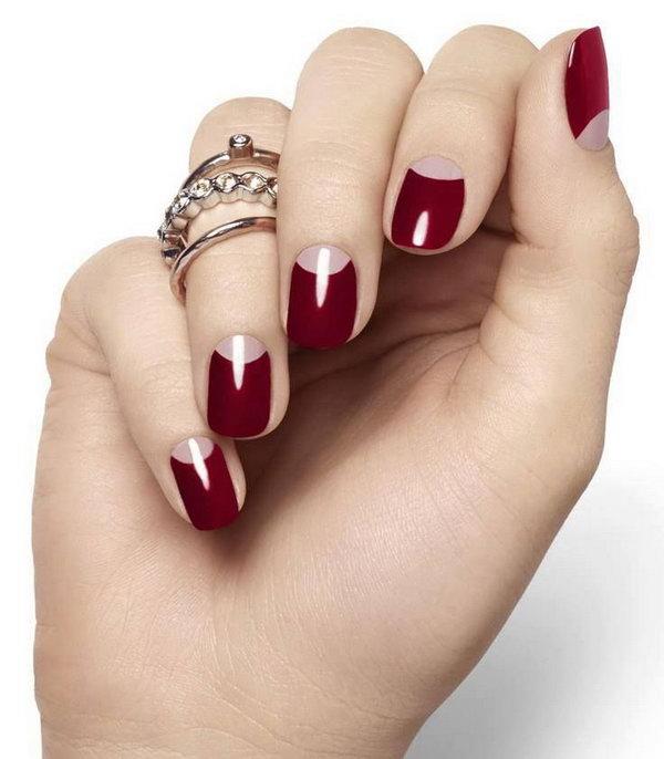 29 half moon nail art - 60+ Stunning Half Moon Nail Art Designs & Tutorials