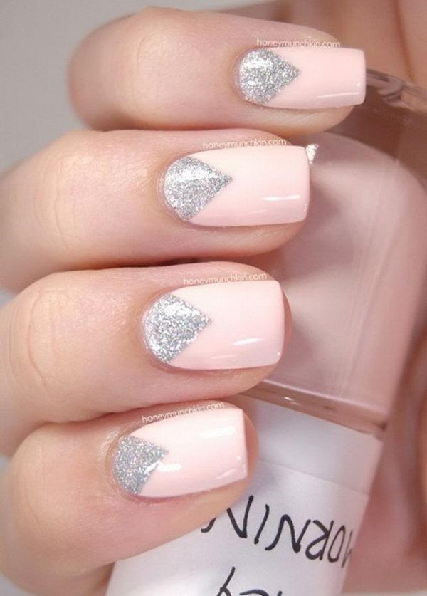 31 half moon nail art - 60+ Stunning Half Moon Nail Art Designs & Tutorials
