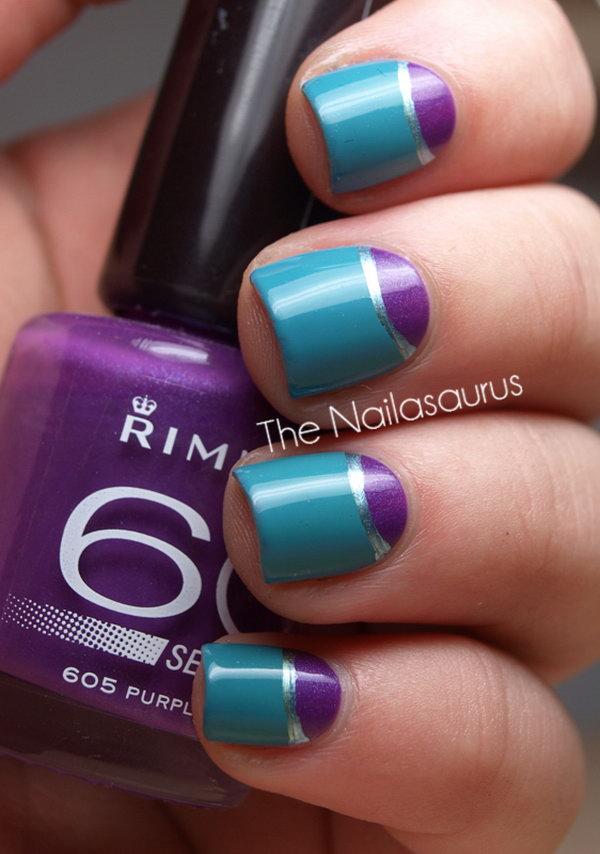 35 half moon nail art - 60+ Stunning Half Moon Nail Art Designs & Tutorials