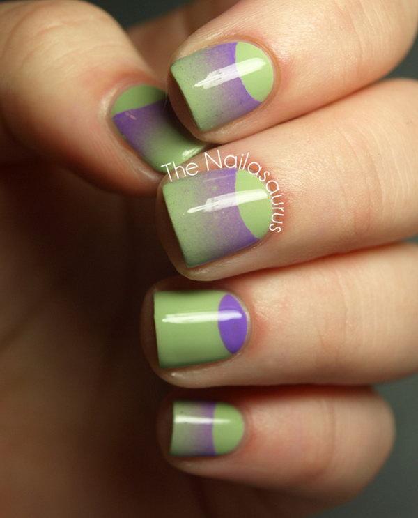 38 half moon nail art - 60+ Stunning Half Moon Nail Art Designs & Tutorials
