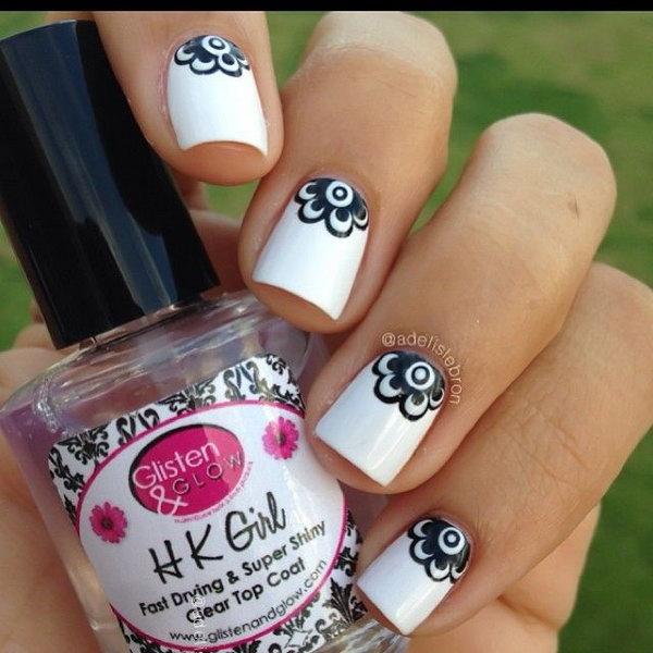44 half moon nail art - 60+ Stunning Half Moon Nail Art Designs & Tutorials