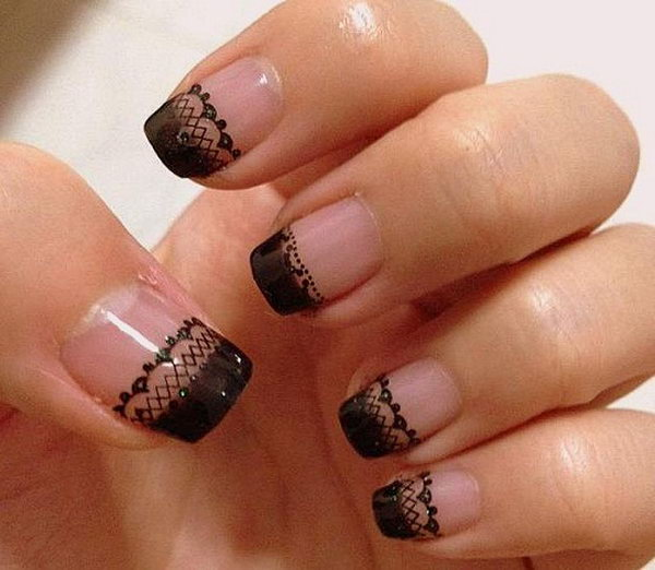 17 lace nail art - 60 Lace Nail Art Designs & Tutorials For You To Get The Fashionable Look
