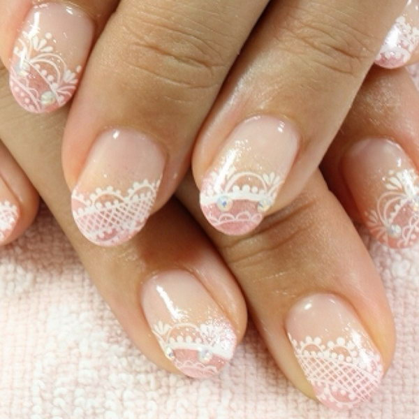 23 lace nail art - 60 Lace Nail Art Designs & Tutorials For You To Get The Fashionable Look