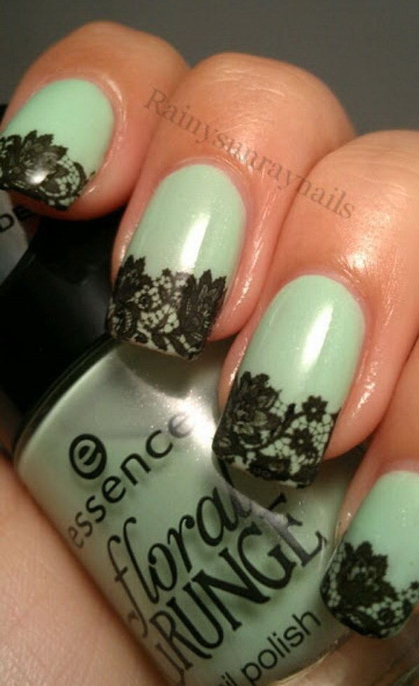 25 lace nail art - 60 Lace Nail Art Designs & Tutorials For You To Get The Fashionable Look