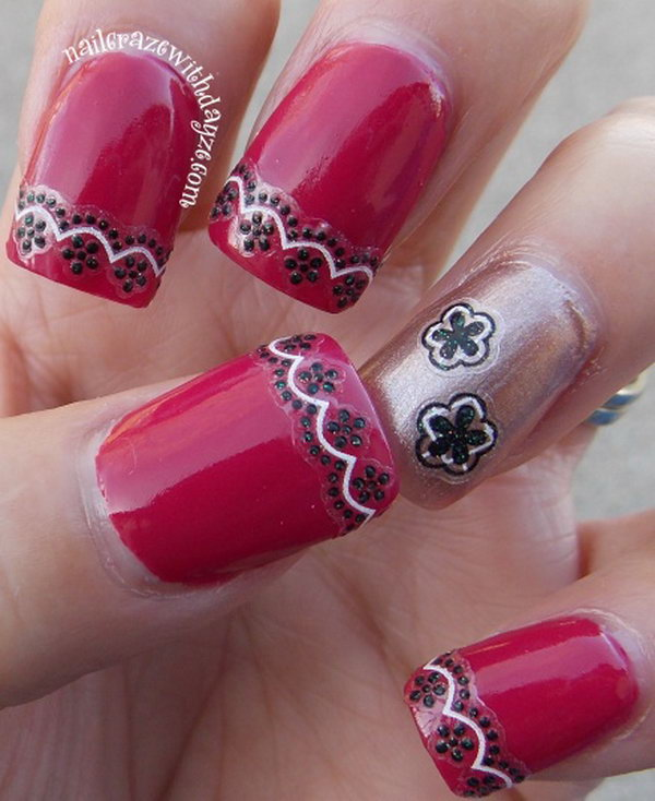37 lace nail art - 60 Lace Nail Art Designs & Tutorials For You To Get The Fashionable Look