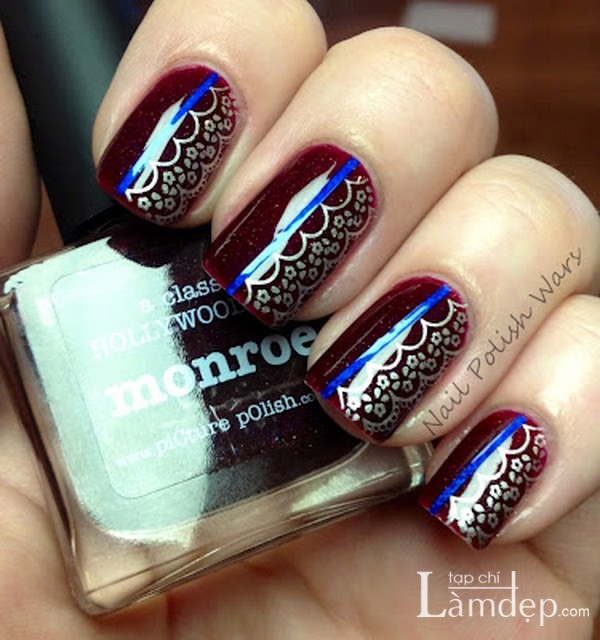 39 lace nail art - 60 Lace Nail Art Designs & Tutorials For You To Get The Fashionable Look