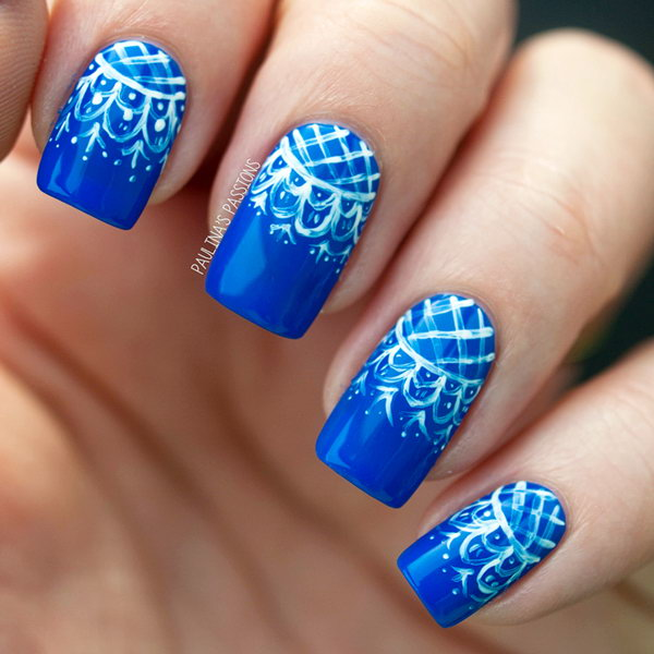 48 lace nail art - 60 Lace Nail Art Designs & Tutorials For You To Get The Fashionable Look