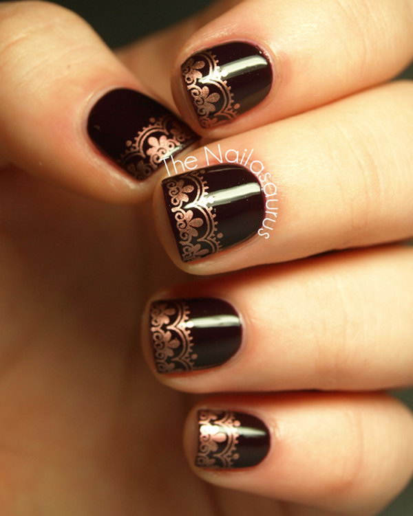 5 lace nail art - 60 Lace Nail Art Designs & Tutorials For You To Get The Fashionable Look