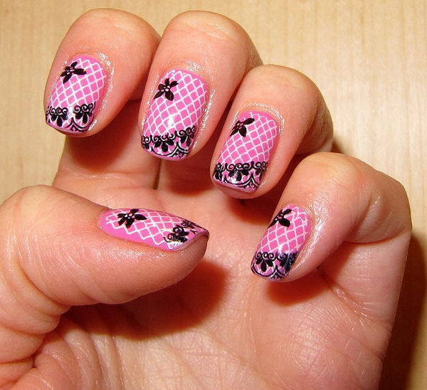7 lace nail art - 60 Lace Nail Art Designs & Tutorials For You To Get The Fashionable Look