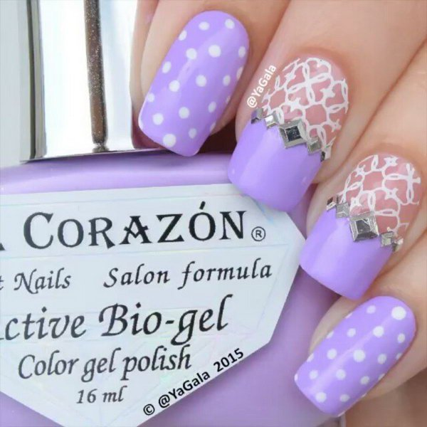 8 lace nail art - 60 Lace Nail Art Designs & Tutorials For You To Get The Fashionable Look