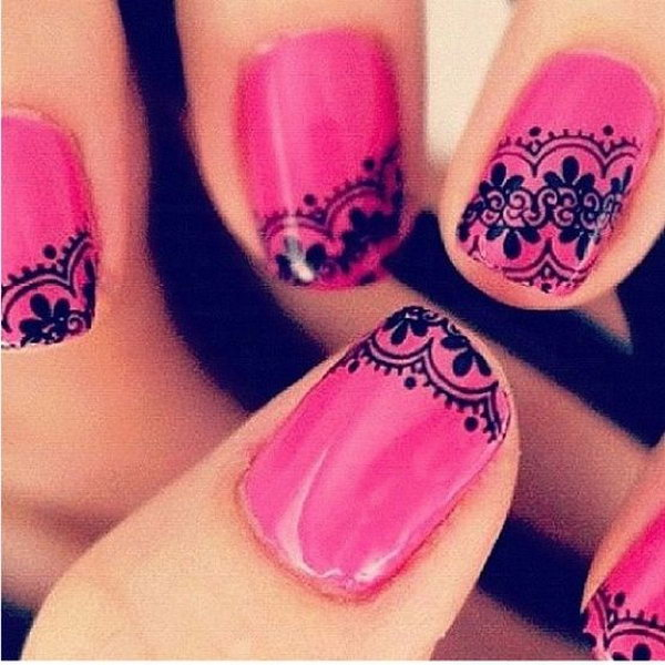 9 lace nail art - 60 Lace Nail Art Designs & Tutorials For You To Get The Fashionable Look