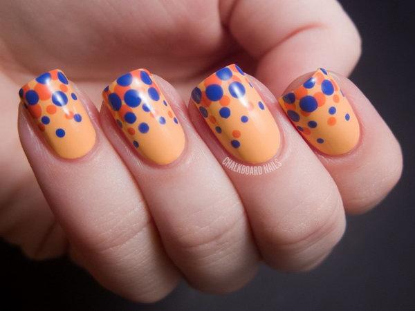 1 polka dots nail art designs - 50+ Stylish Polka Dots Nail Art Designs