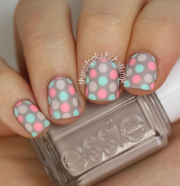 11 polka dots nail art designs - 50+ Stylish Polka Dots Nail Art Designs