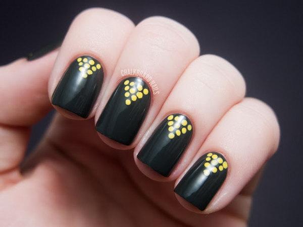 2 polka dots nail art designs - 50+ Stylish Polka Dots Nail Art Designs