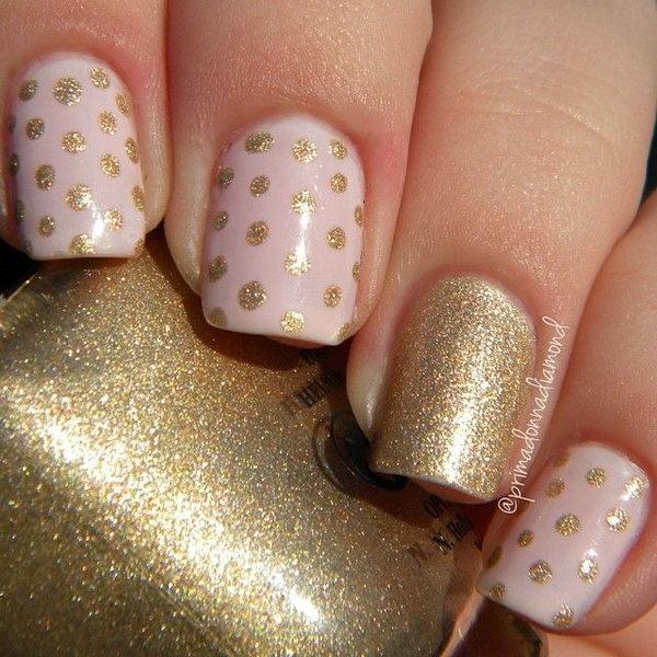 22 polka dots nail art designs - 50+ Stylish Polka Dots Nail Art Designs