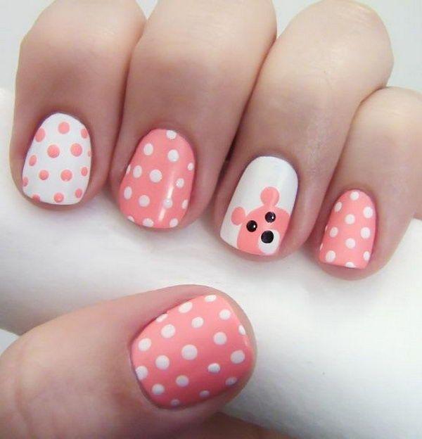 28 polka dots nail art designs - 50+ Stylish Polka Dots Nail Art Designs