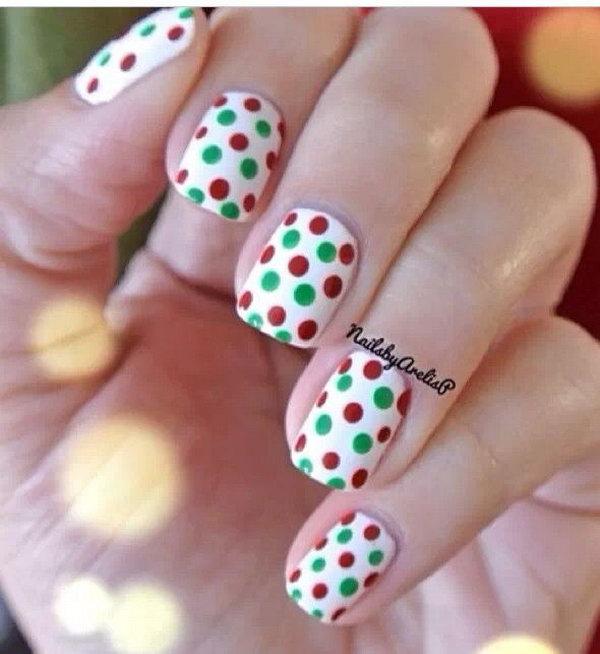 36 polka dots nail art designs - 50+ Stylish Polka Dots Nail Art Designs