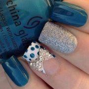 stylish polka dots nail art