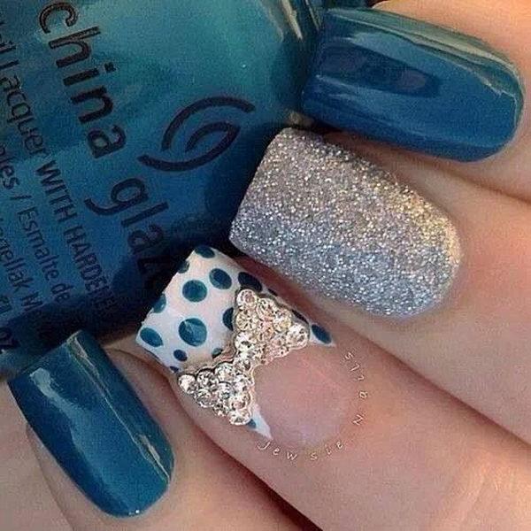 38 polka dots nail art designs - 50+ Stylish Polka Dots Nail Art Designs