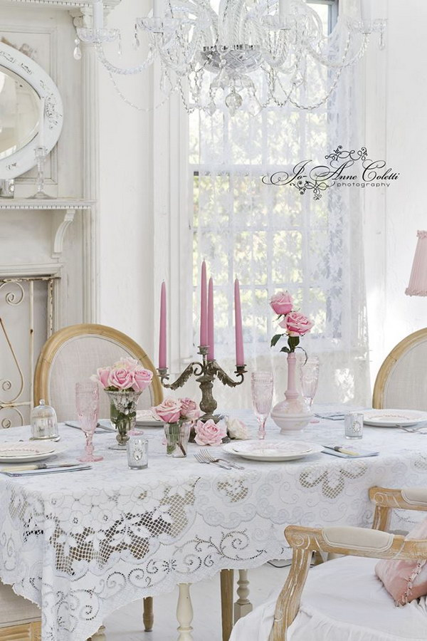 Dining Room Table Decoration Shabby Chic Dining Room Ideas: Awesome Tables, Chairs And