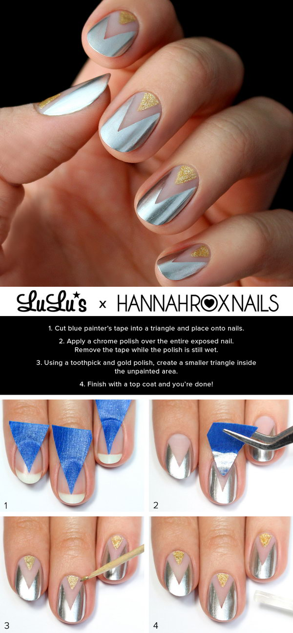 3 step by step nail art tutorials - 20+ Easy and Fun Step by Step Nail Art Tutorials