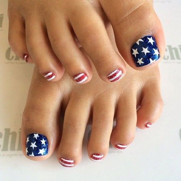 11 toe nail art designs - 60 Cute & Pretty Toe Nail Art Designs