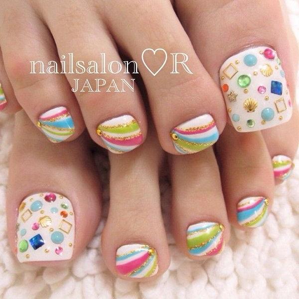12 toe nail art designs - 60 Cute & Pretty Toe Nail Art Designs