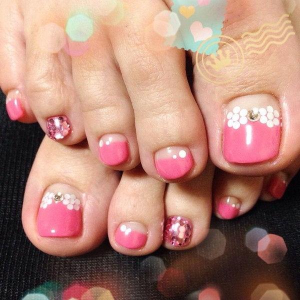 14 toe nail art designs - 60 Cute & Pretty Toe Nail Art Designs