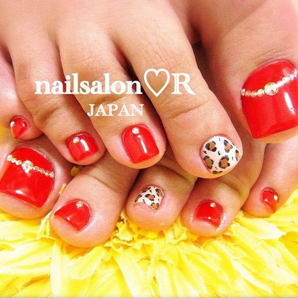 15 toe nail art designs - 60 Cute & Pretty Toe Nail Art Designs