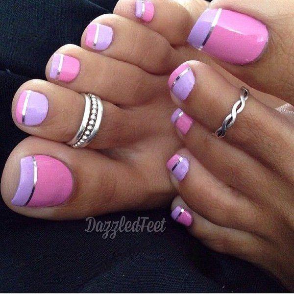 20 toe nail art designs - 60 Cute & Pretty Toe Nail Art Designs