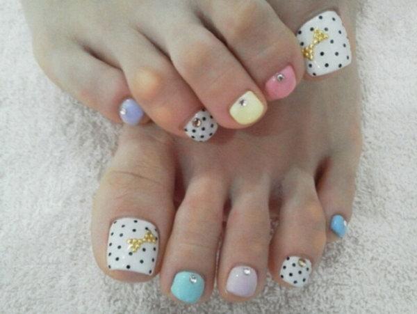 34 toe nail art designs - 60 Cute & Pretty Toe Nail Art Designs