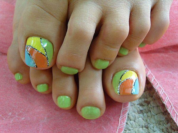 41 toe nail art designs - 60 Cute & Pretty Toe Nail Art Designs