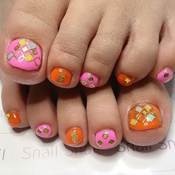 46 toe nail art designs - 60 Cute & Pretty Toe Nail Art Designs