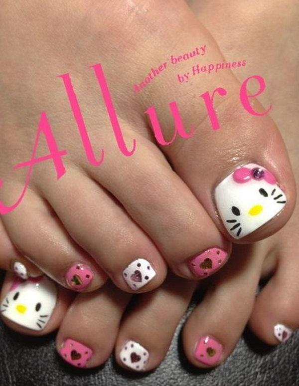 47 toe nail art designs - 60 Cute & Pretty Toe Nail Art Designs