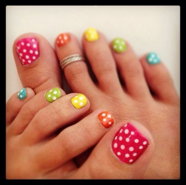 48 toe nail art designs - 60 Cute & Pretty Toe Nail Art Designs