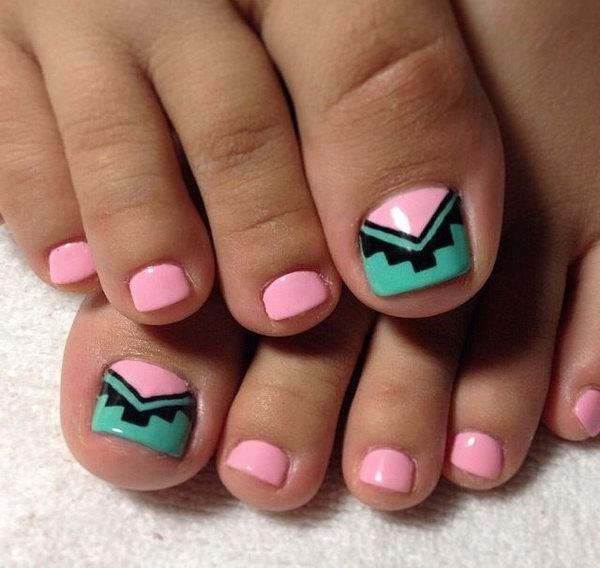 50 toe nail art designs - 60 Cute & Pretty Toe Nail Art Designs