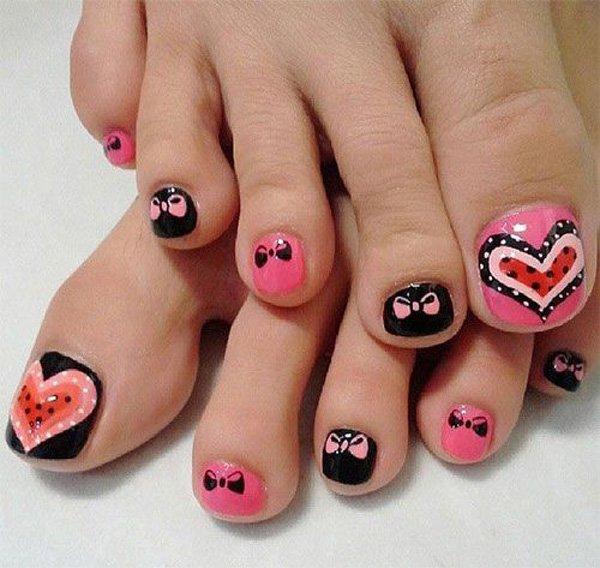 59 toe nail art designs - 60 Cute & Pretty Toe Nail Art Designs