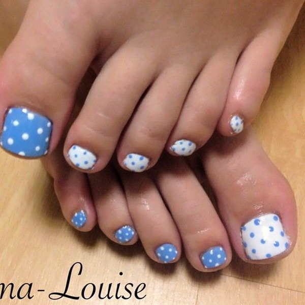 8 toe nail art designs - 60 Cute & Pretty Toe Nail Art Designs
