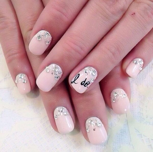 1 wedding nail art designs - 40+ Amazing Bridal Wedding Nail Art for Your Special Day
