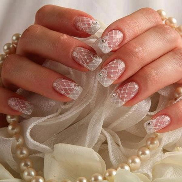 22 wedding nail art designs - 40+ Amazing Bridal Wedding Nail Art for Your Special Day
