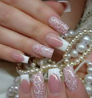 amazing bridal wedding nail