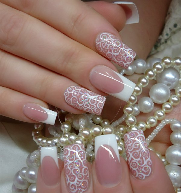 26 wedding nail art designs - 40+ Amazing Bridal Wedding Nail Art for Your Special Day