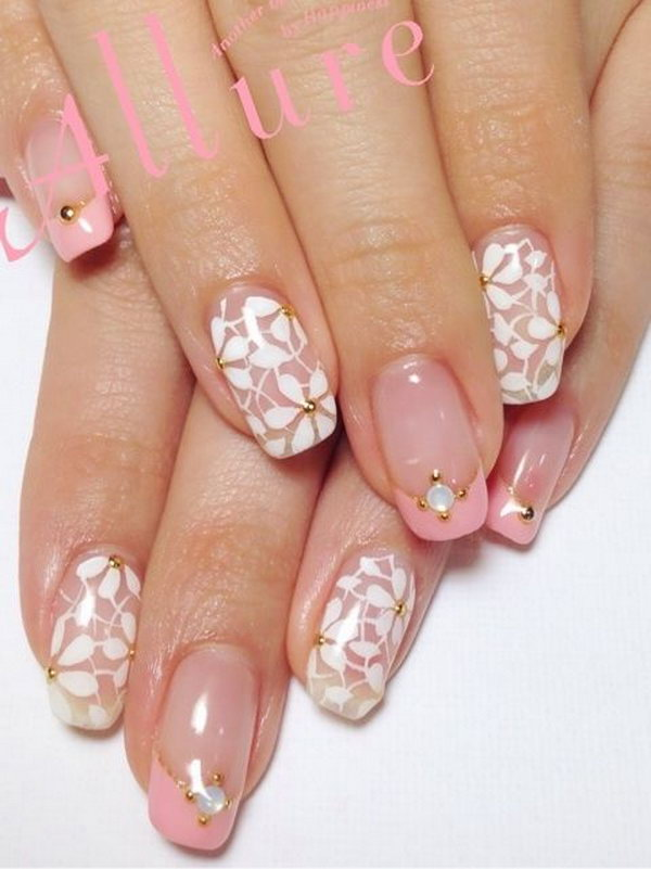 27 wedding nail art designs - 40+ Amazing Bridal Wedding Nail Art for Your Special Day