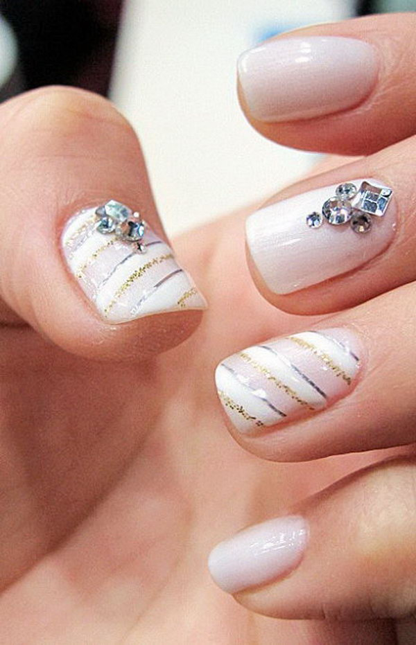34 wedding nail art designs - 40+ Amazing Bridal Wedding Nail Art for Your Special Day