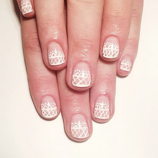 4 wedding nail art designs - 40+ Amazing Bridal Wedding Nail Art for Your Special Day