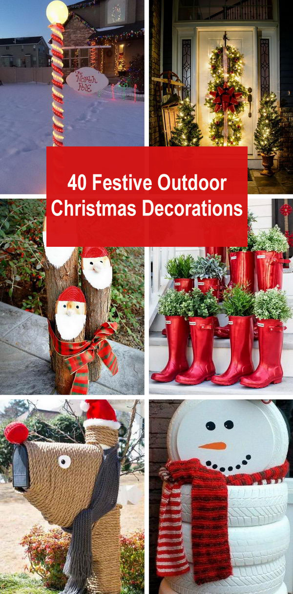 40 Festive Outdoor Christmas Decorations Styletic