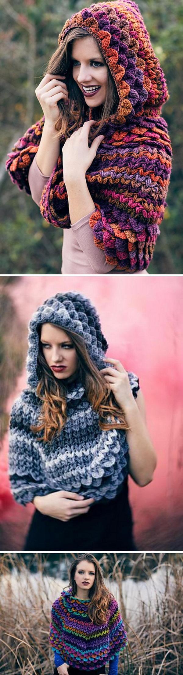 20 crochet women capes poncho ideas - 20 Crochet Women Capes and Poncho Ideas